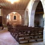 vue de l'intérieur de la chapelle une fois l'électricité et les plafonds posés
