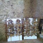 les gerbes de fleurs utilisées pour les procession une fois restaurées